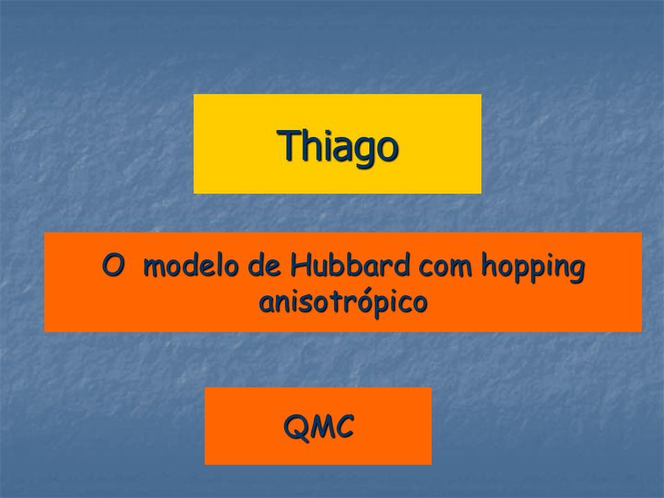 O modelo de Hubbard com hopping anisotrópico