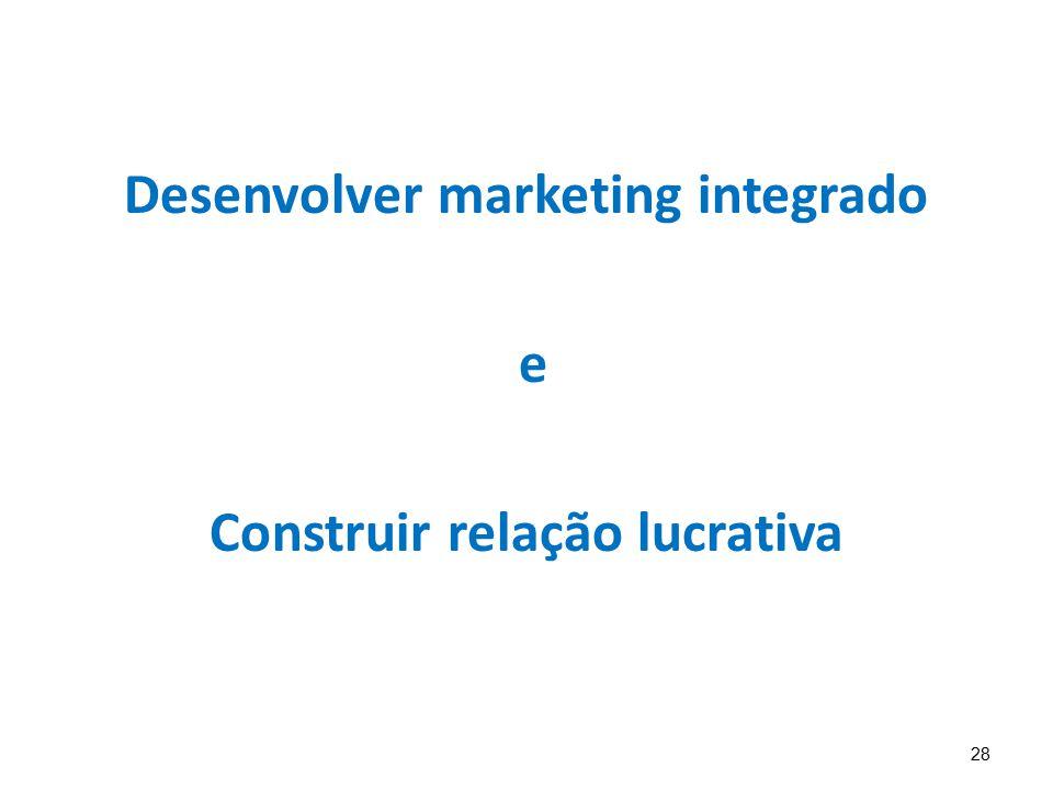 Desenvolver marketing integrado Construir relação lucrativa