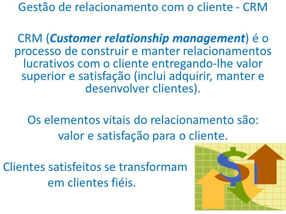 Gestão de relacionamento com o cliente - CRM