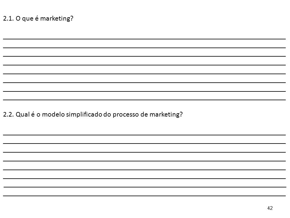 2.1. O que é marketing