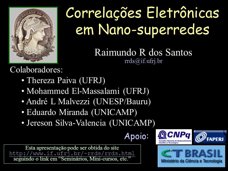 Correlações Eletrônicas em Nano-superredes