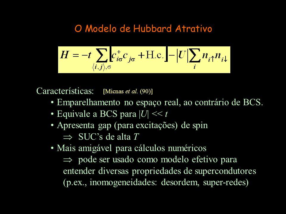 O Modelo de Hubbard Atrativo