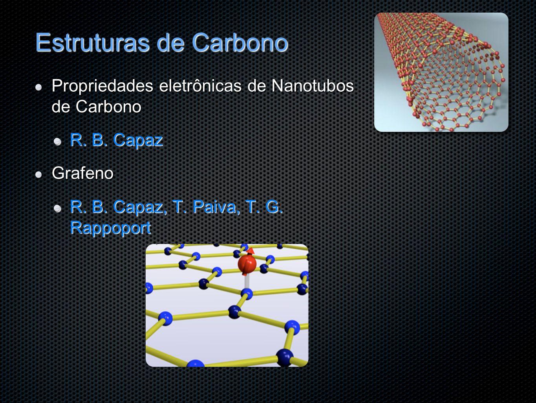 Estruturas de Carbono Propriedades eletrônicas de Nanotubos de Carbono