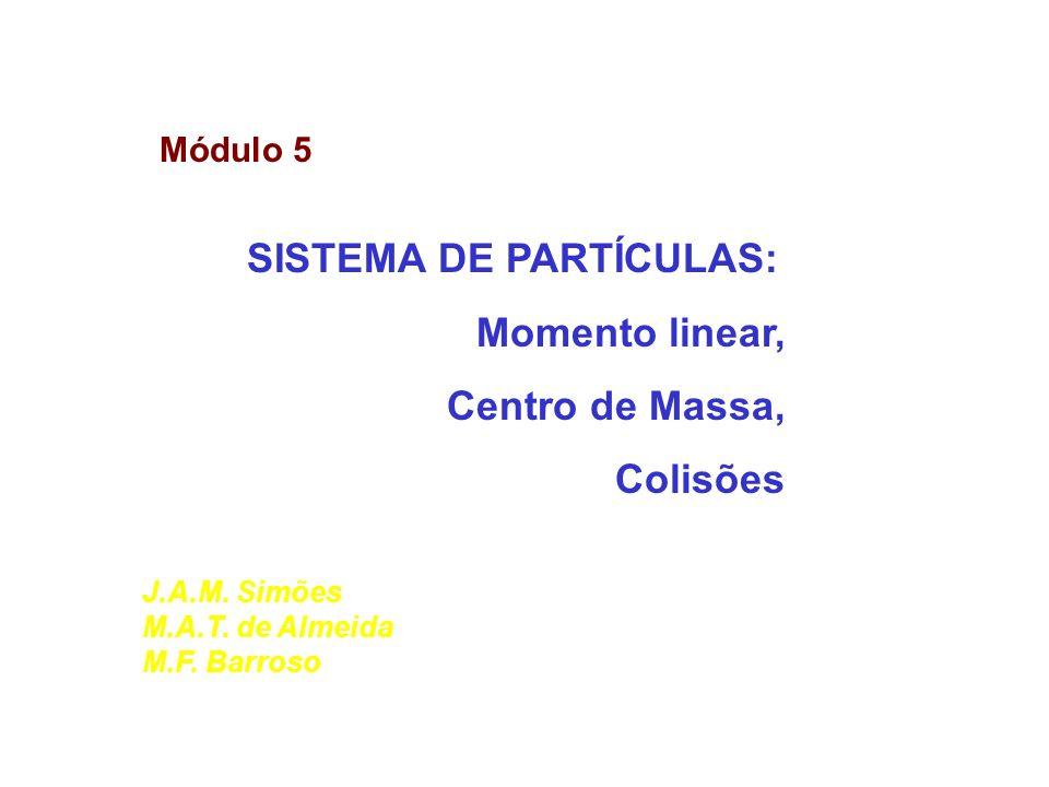 SISTEMA DE PARTÍCULAS: Momento linear, Centro de Massa, Colisões
