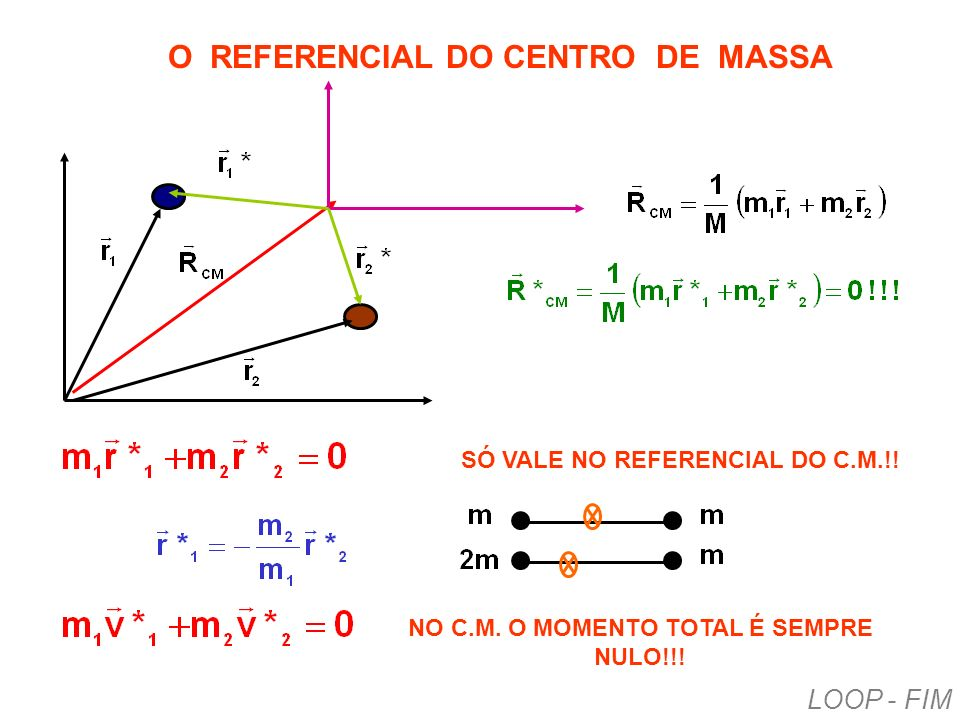 O REFERENCIAL DO CENTRO DE MASSA