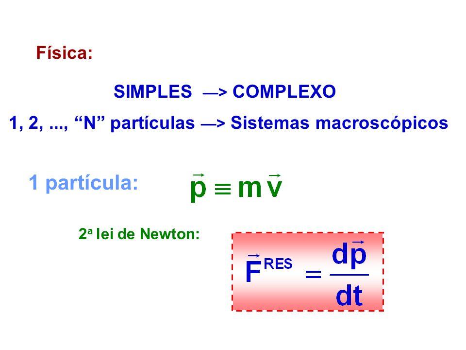 1 partícula: Física: SIMPLES —> COMPLEXO