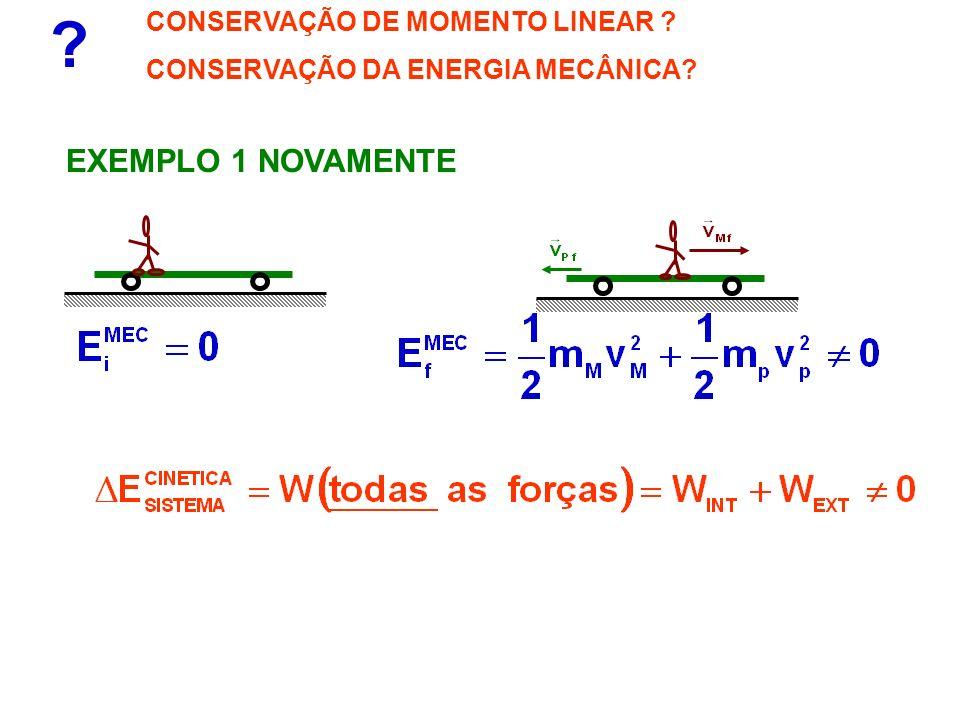 EXEMPLO 1 NOVAMENTE CONSERVAÇÃO DE MOMENTO LINEAR