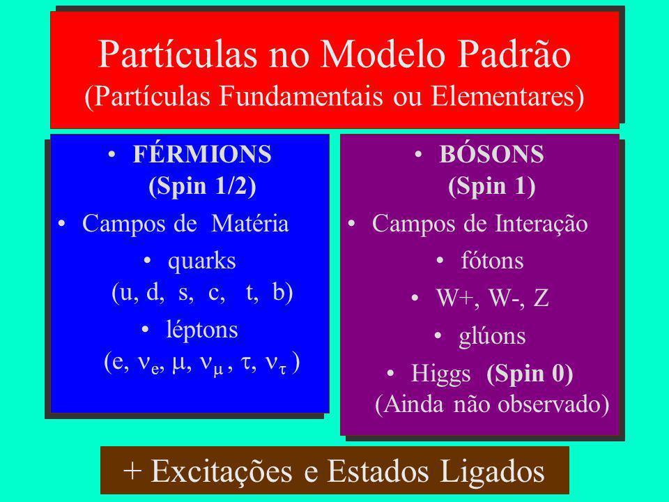 Partículas no Modelo Padrão (Partículas Fundamentais ou Elementares)