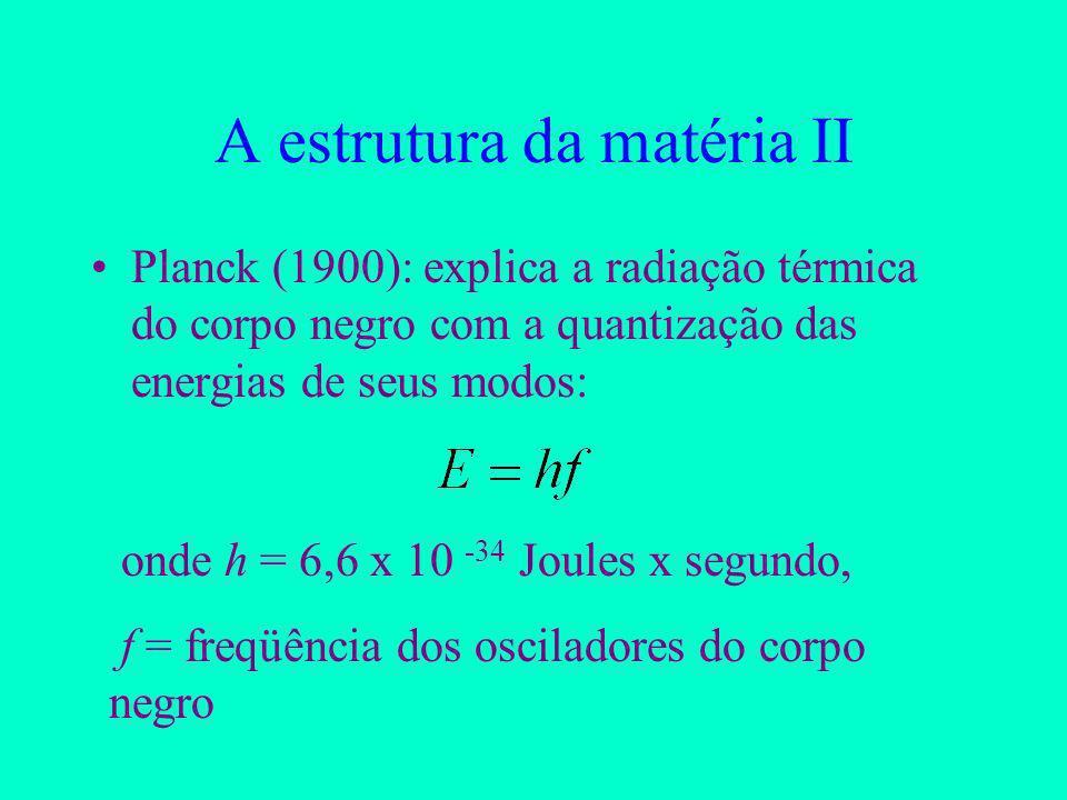 A estrutura da matéria II