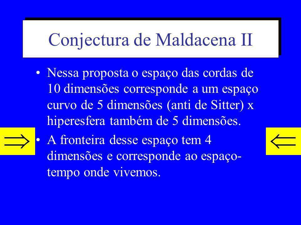 Conjectura de Maldacena II