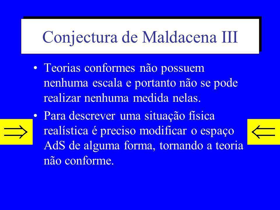 Conjectura de Maldacena III