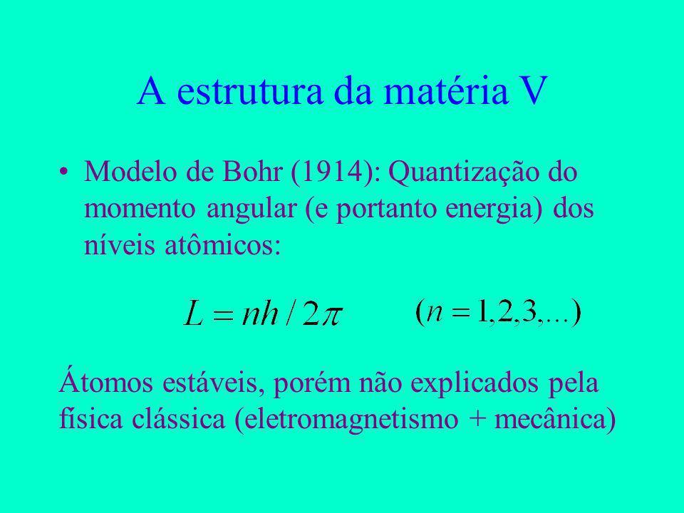A estrutura da matéria V