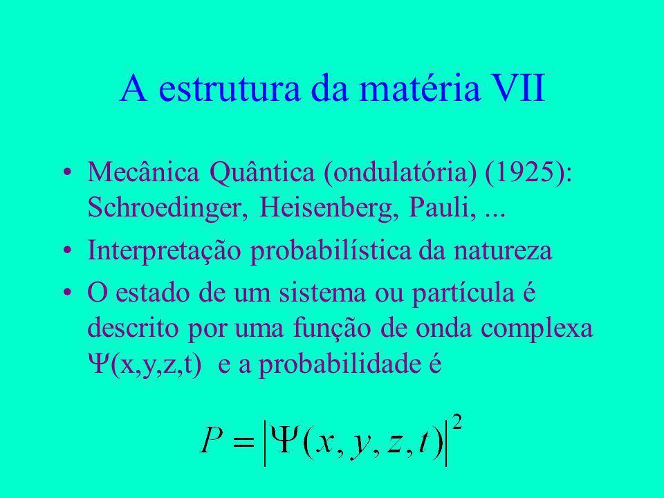 A estrutura da matéria VII