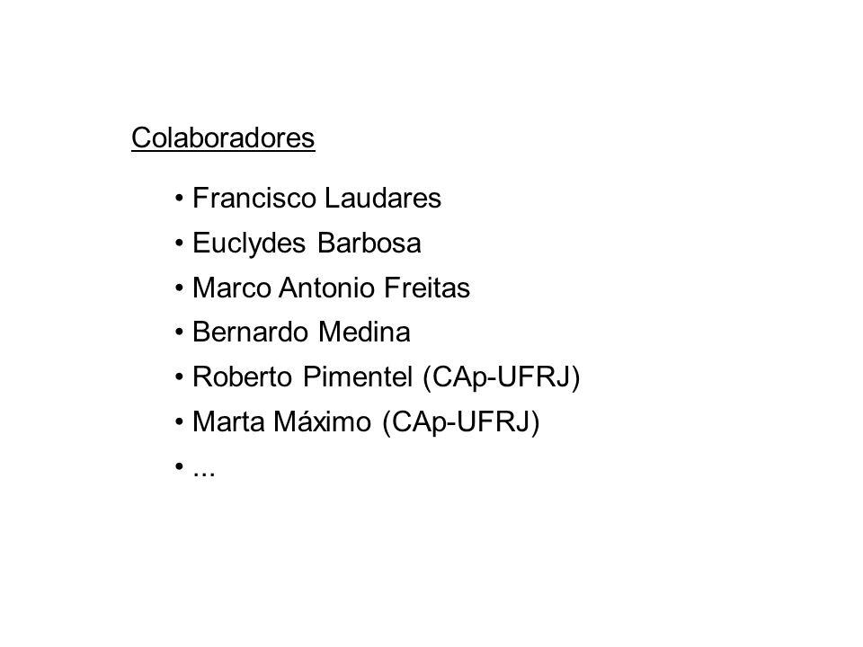 Colaboradores Francisco Laudares. Euclydes Barbosa. Marco Antonio Freitas. Bernardo Medina. Roberto Pimentel (CAp-UFRJ)