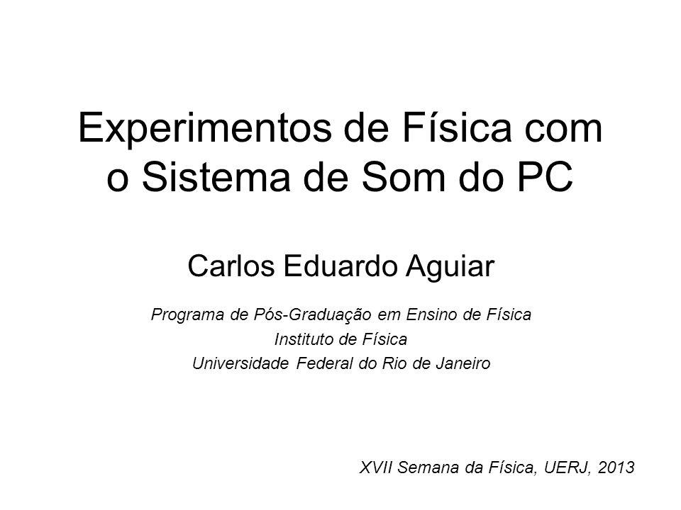 Experimentos de Física com o Sistema de Som do PC