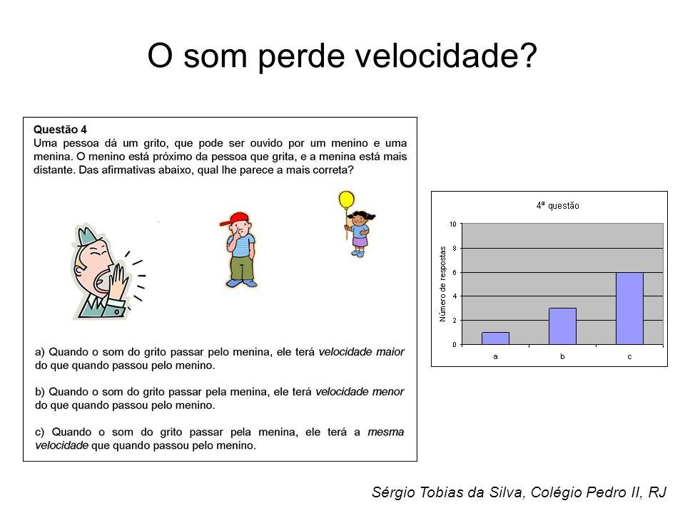 O som perde velocidade Sérgio Tobias da Silva, Colégio Pedro II, RJ
