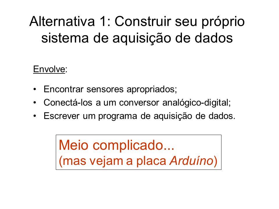 Alternativa 1: Construir seu próprio sistema de aquisição de dados