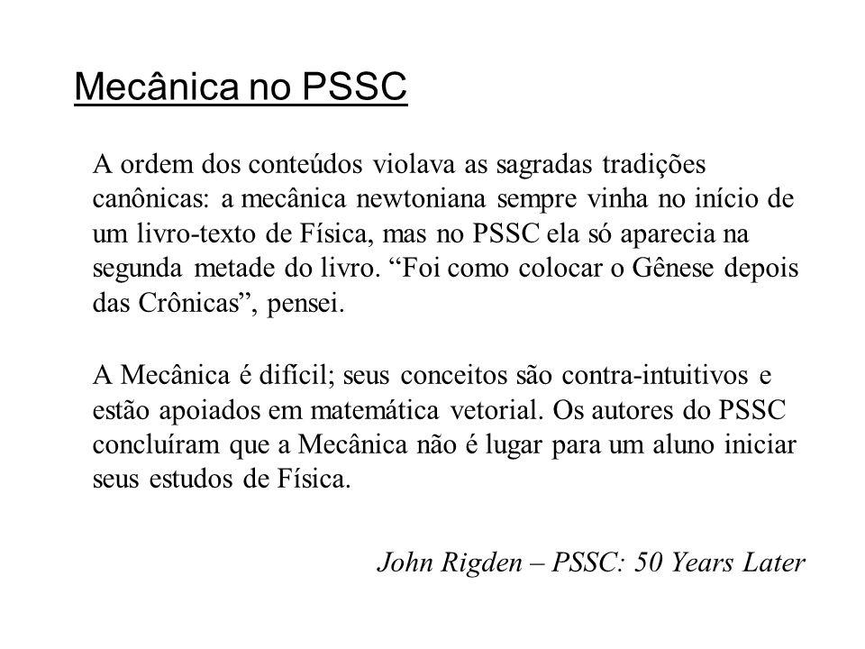 Mecânica no PSSC