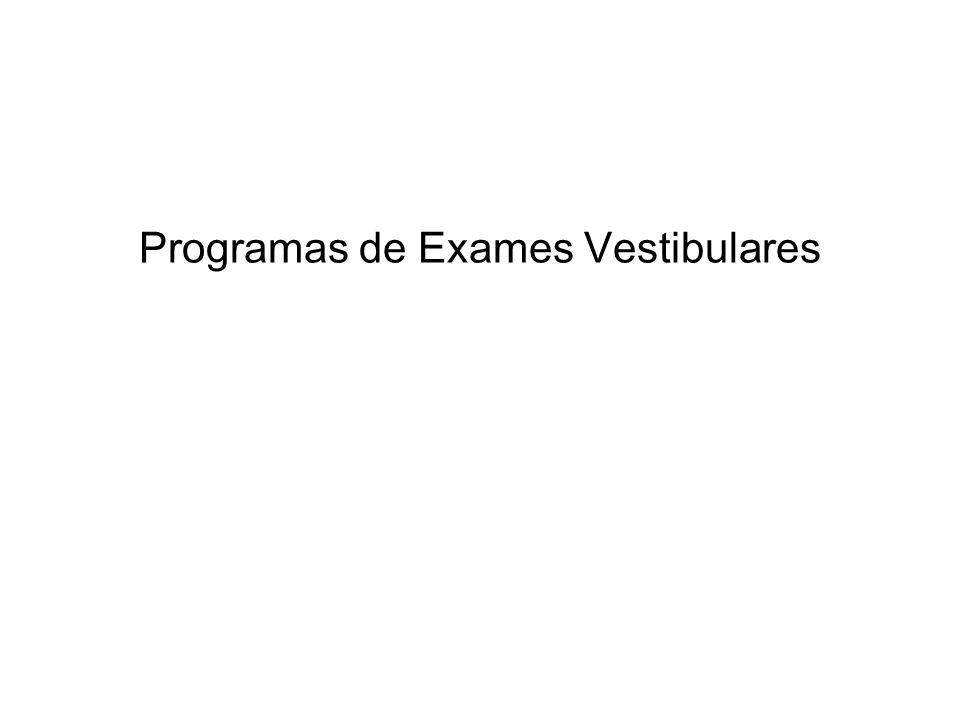 Programas de Exames Vestibulares