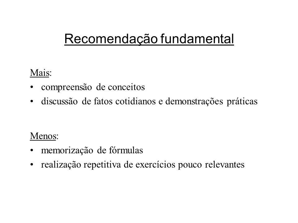 Recomendação fundamental