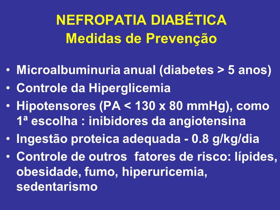 NEFROPATIA DIABÉTICA Medidas de Prevenção