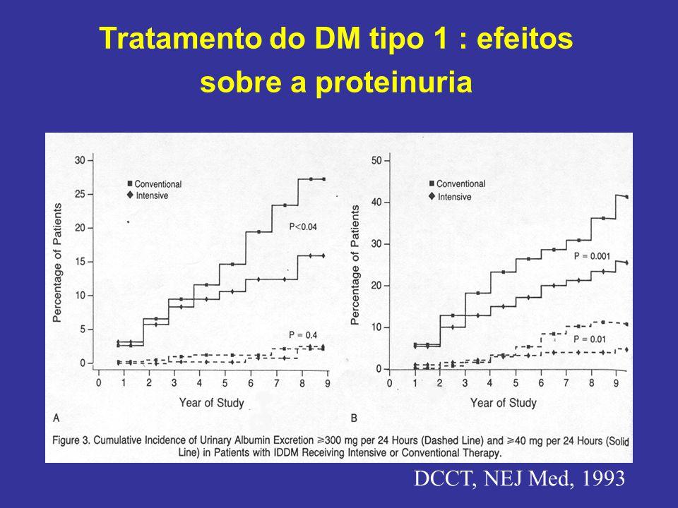 Tratamento do DM tipo 1 : efeitos sobre a proteinuria
