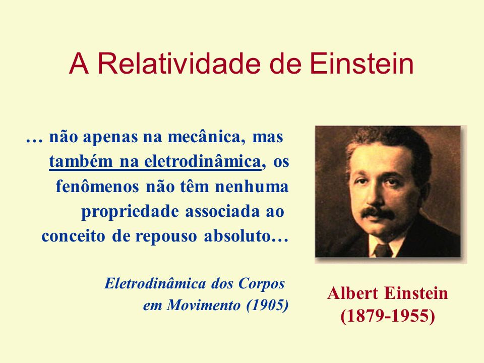 A Relatividade de Einstein