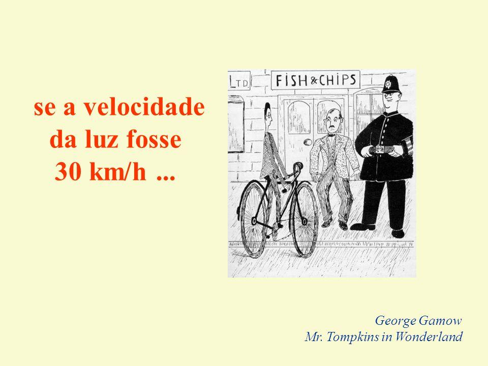 se a velocidade da luz fosse 30 km/h ... George Gamow