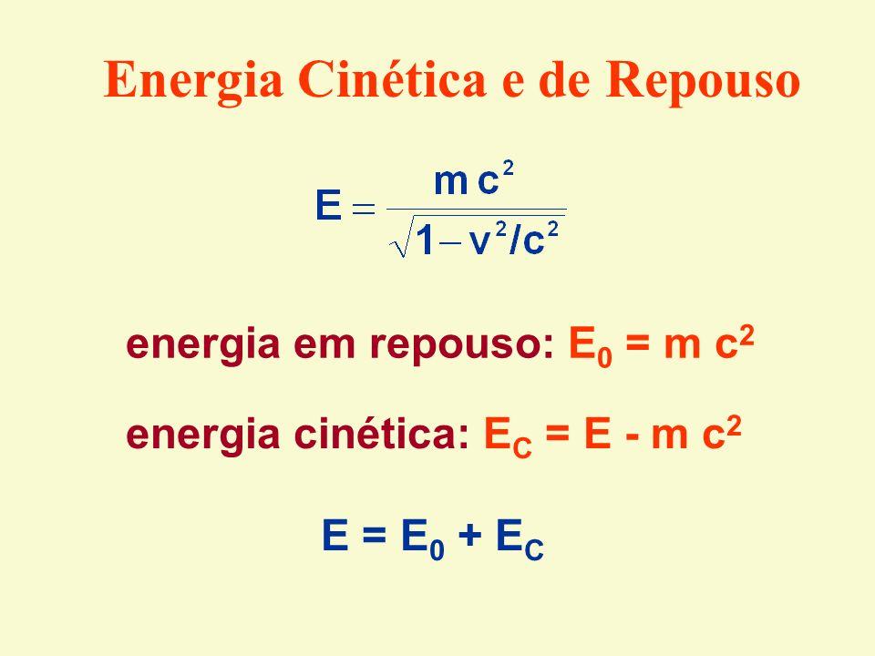 Energia Cinética e de Repouso
