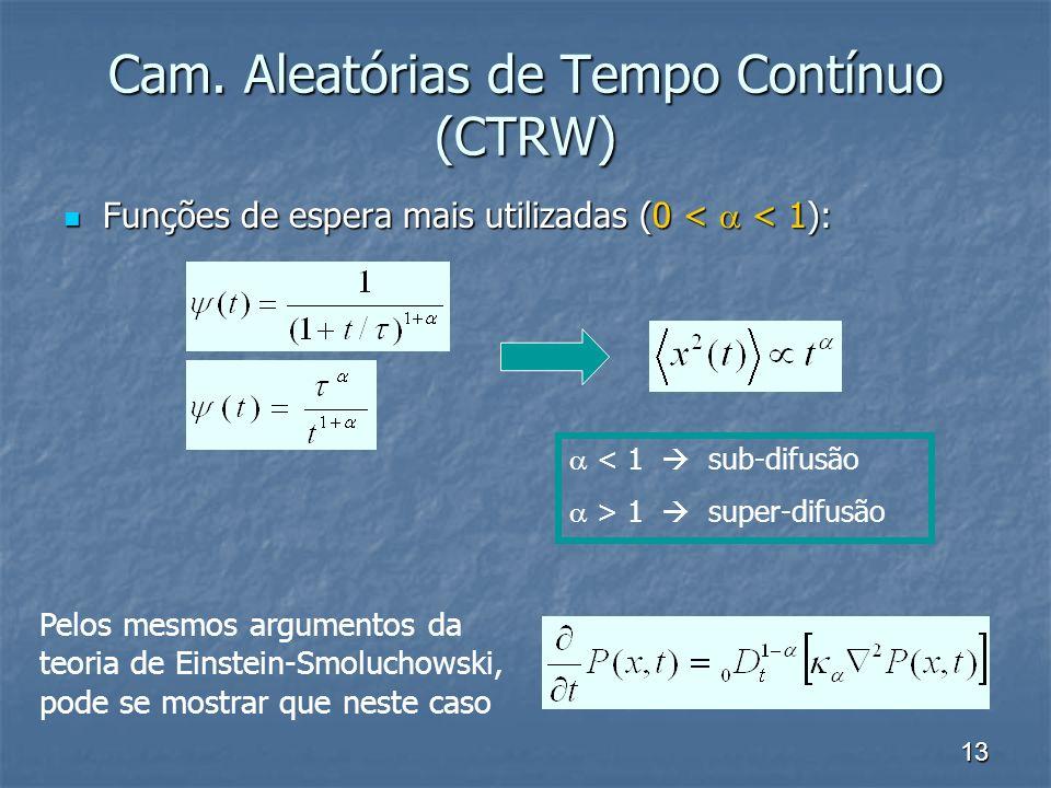 Cam. Aleatórias de Tempo Contínuo (CTRW)
