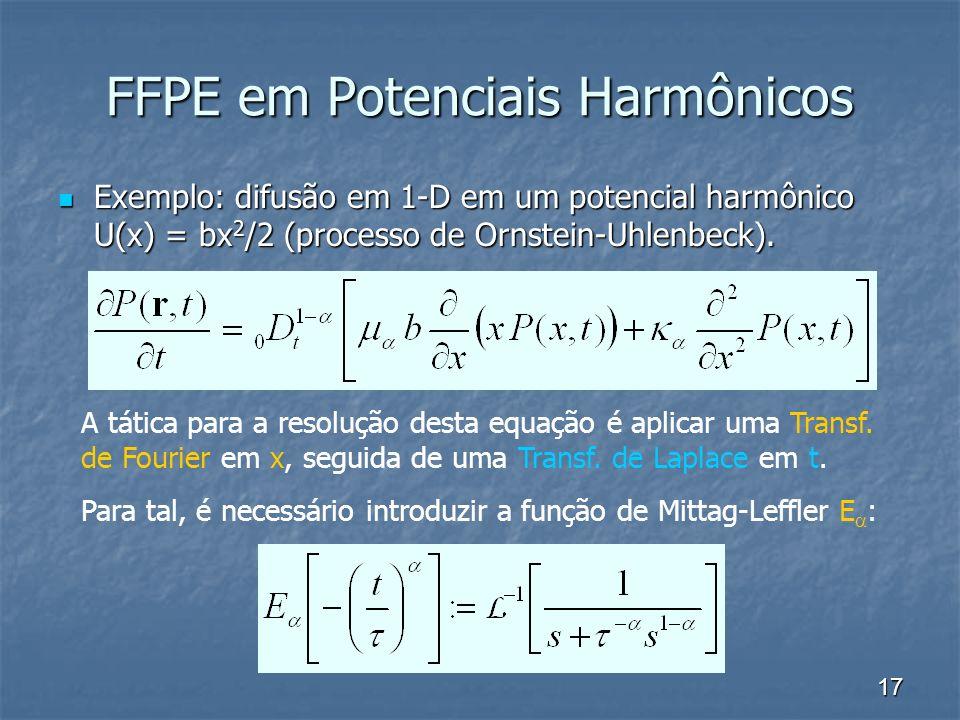 FFPE em Potenciais Harmônicos