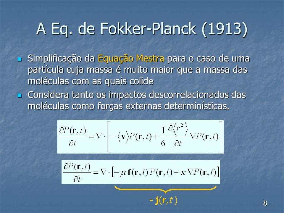 A Eq. de Fokker-Planck (1913)