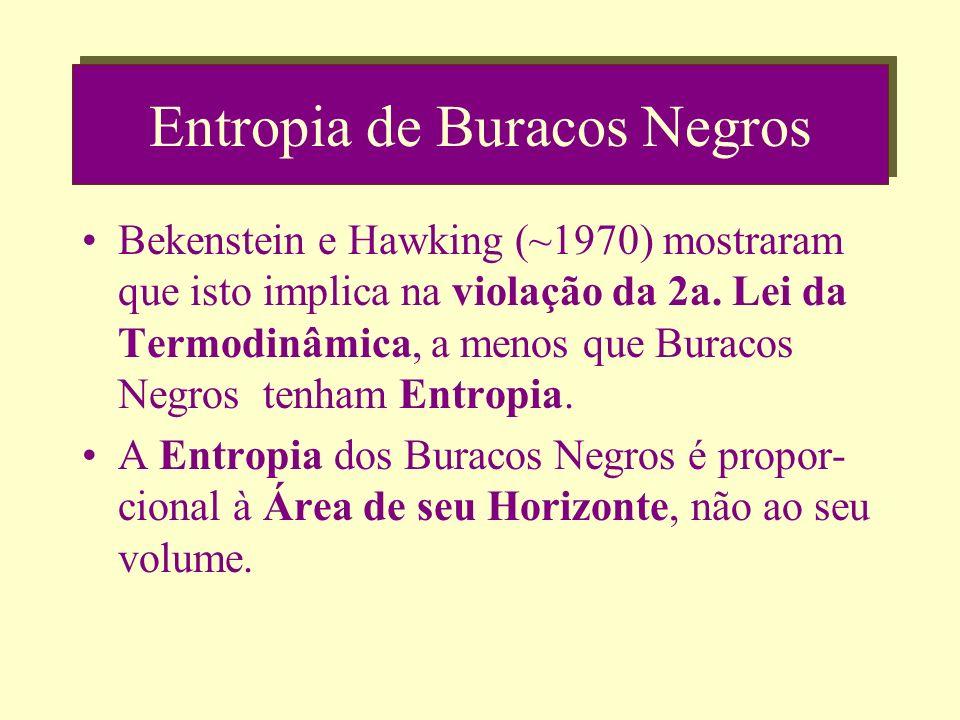 Entropia de Buracos Negros