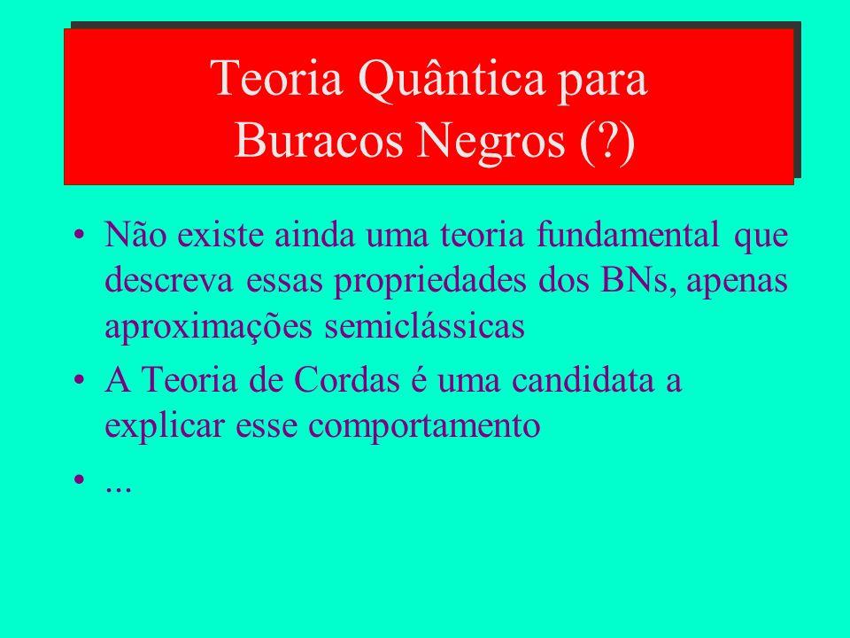 Teoria Quântica para Buracos Negros ( )
