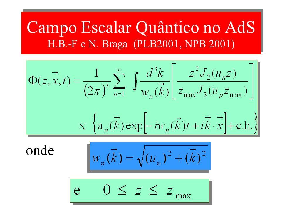 Campo Escalar Quântico no AdS H.B.-F e N. Braga (PLB2001, NPB 2001)