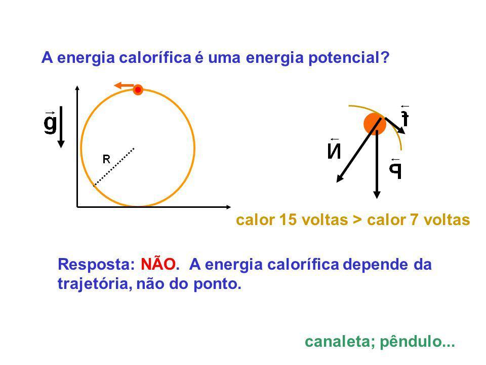 A energia calorífica é uma energia potencial