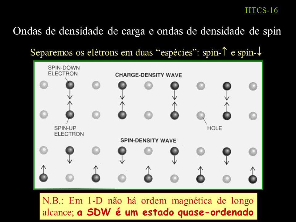 Ondas de densidade de carga e ondas de densidade de spin
