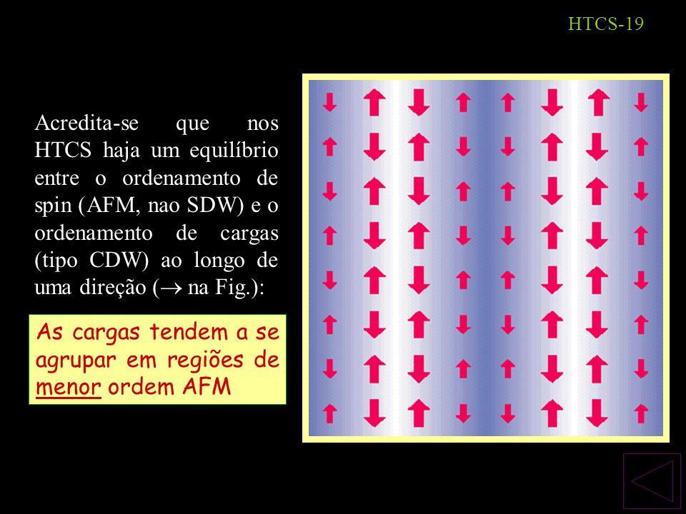 As cargas tendem a se agrupar em regiões de menor ordem AFM
