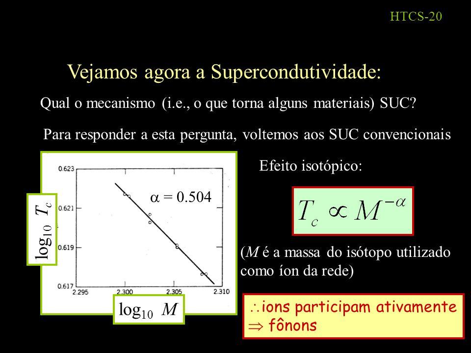 Vejamos agora a Supercondutividade: