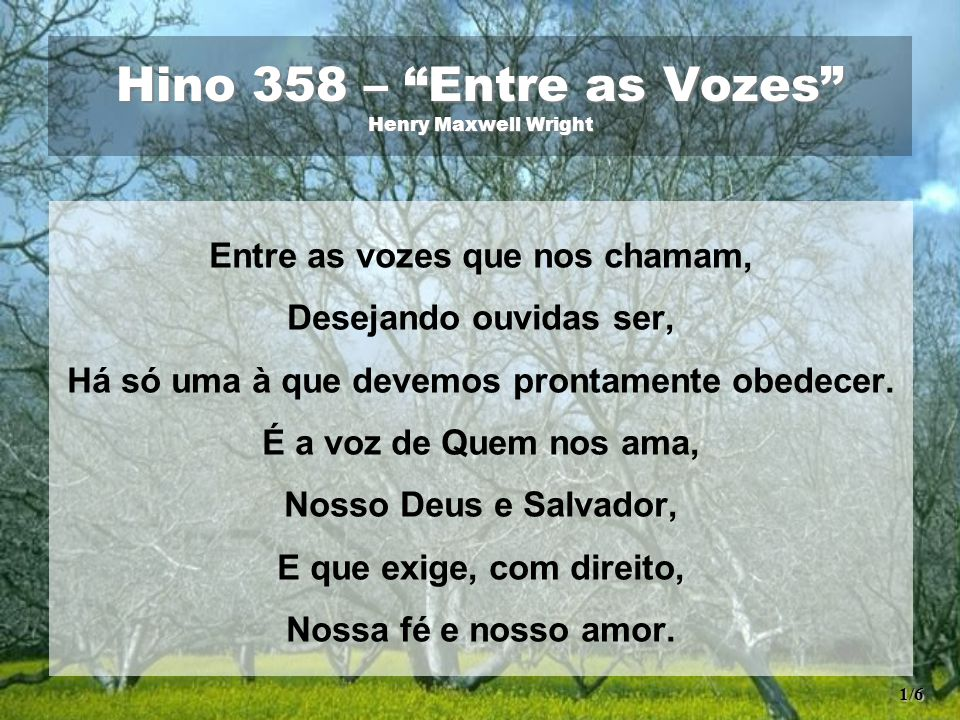 Hino 358 – Entre as Vozes Henry Maxwell Wright