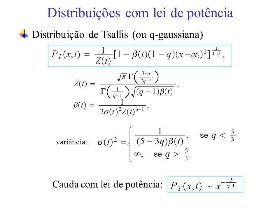 Distribuições com lei de potência