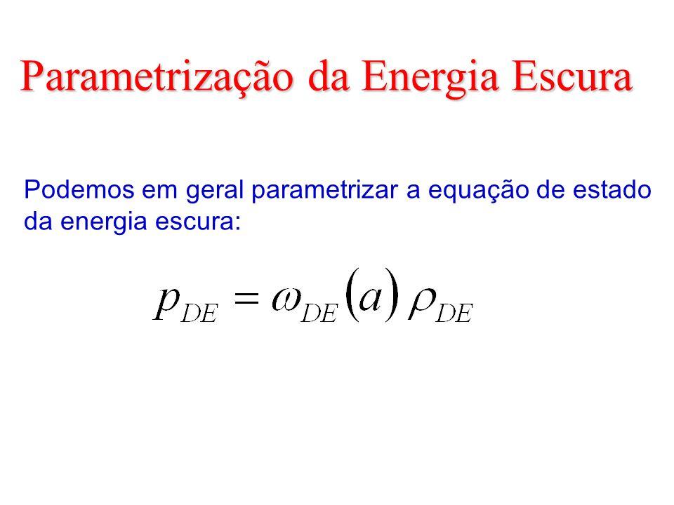 Parametrização da Energia Escura