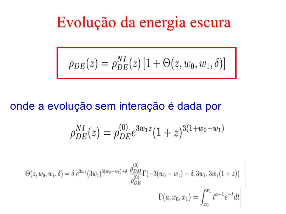 Evolução da energia escura