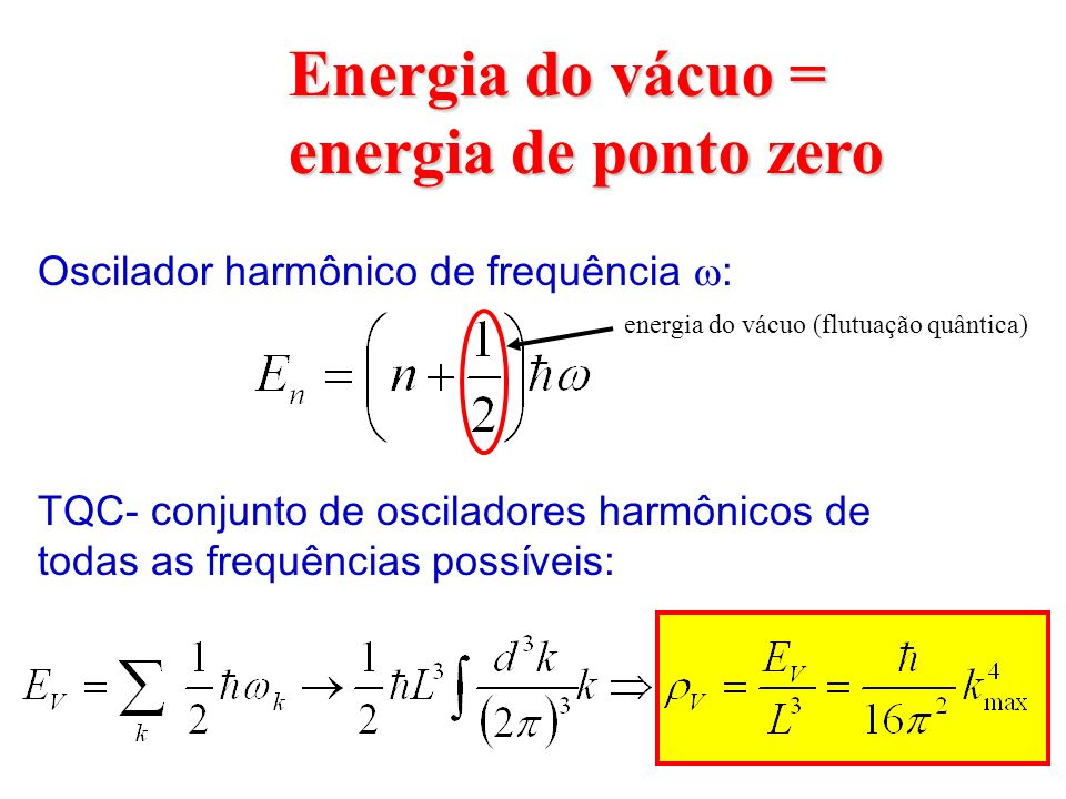 Energia do vácuo = energia de ponto zero