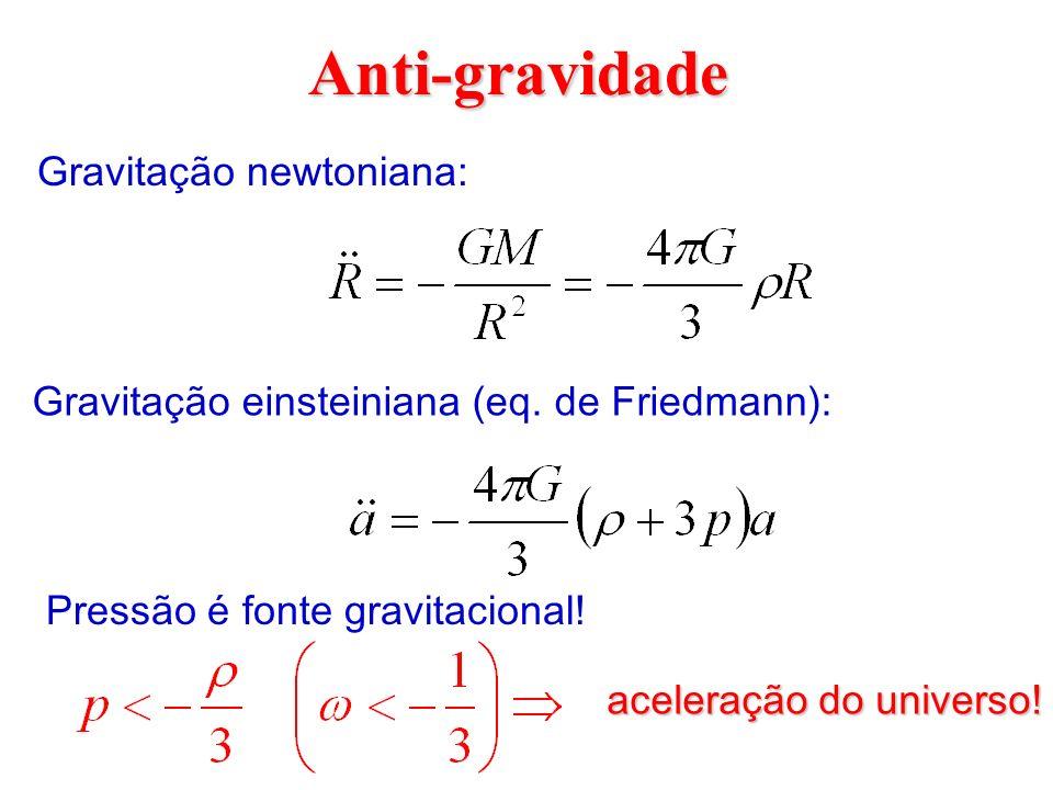 Anti-gravidade Gravitação newtoniana: