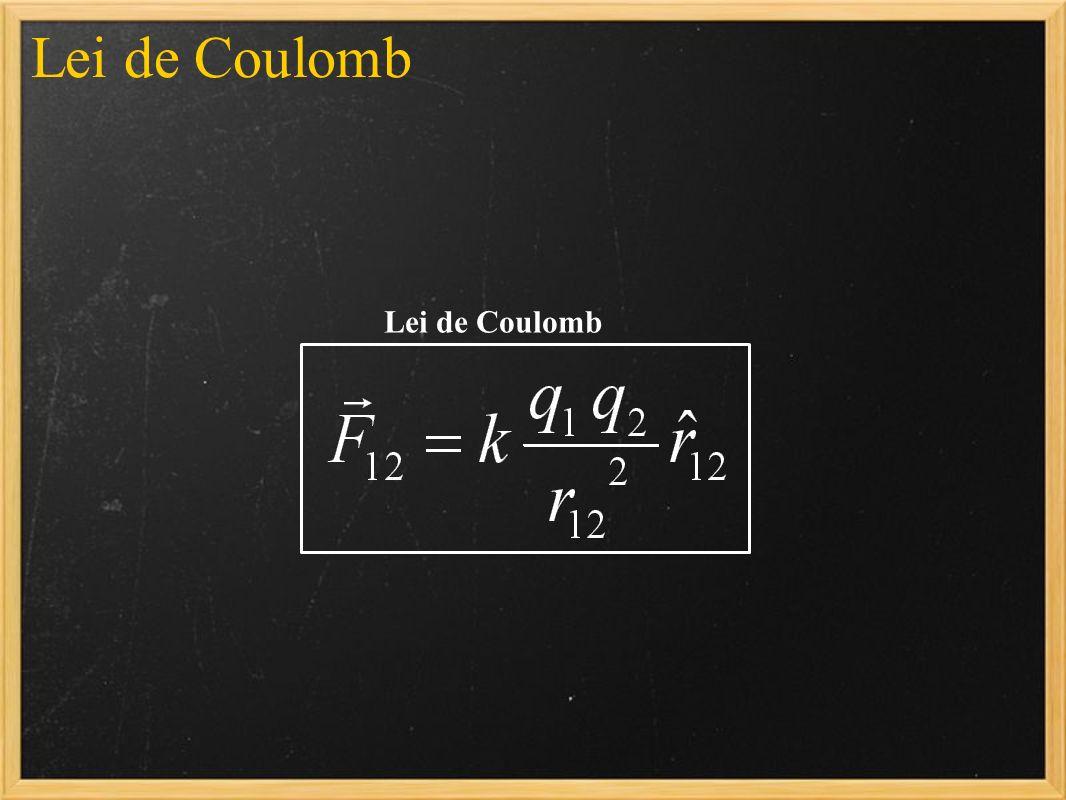 Lei de Coulomb Lei de Coulomb