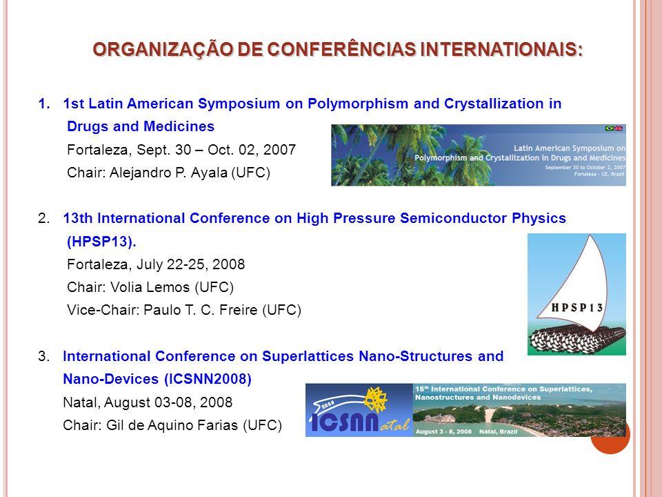 ORGANIZAÇÃO DE CONFERÊNCIAS INTERNATIONAIS: