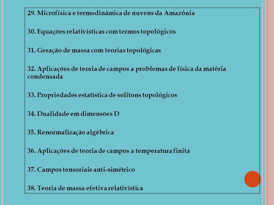 29. Microfísica e termodinâmica de nuvens da Amazônia