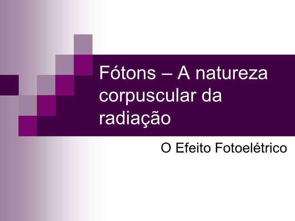 Fótons – A natureza corpuscular da radiação