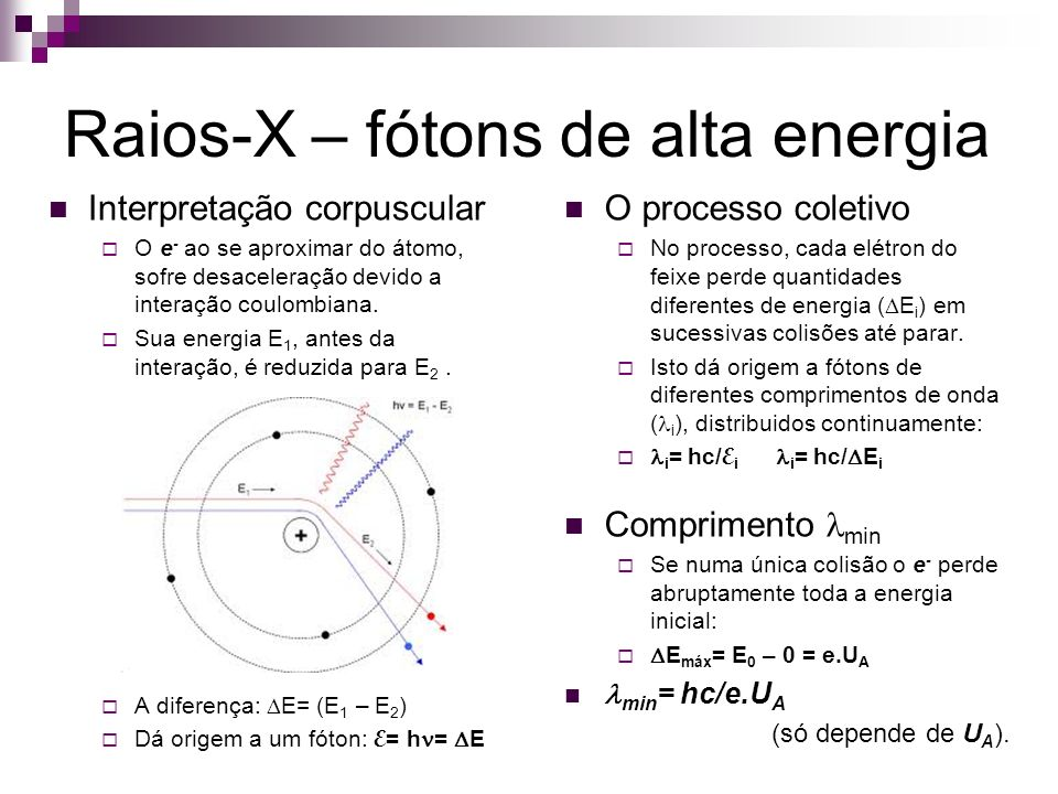 Raios-X – fótons de alta energia